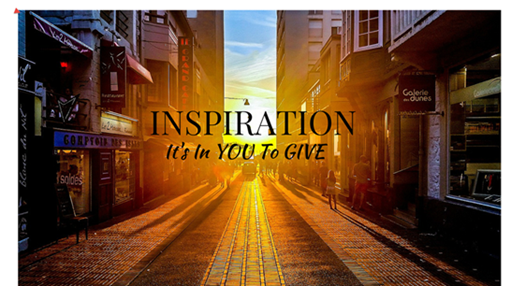 Do You Want To INSPIRE People ? – Click On Inspiration Image Below